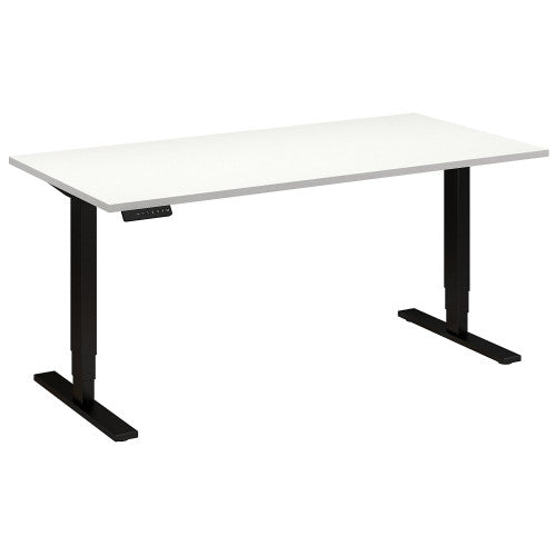 Bush Move 80 Series 60W x 30D Height Adjustable Standing Desk, White HAT6030WHBK ; UPC: 042976014490 ; Image 1