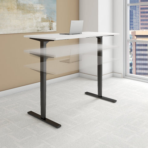 Bush Move 80 Series 60W x 30D Height Adjustable Standing Desk, White HAT6030WHBK ; UPC: 042976014490 ; Image 2