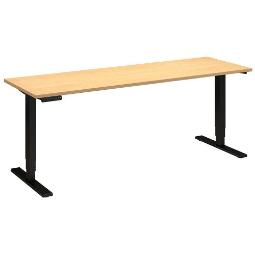 Bush Move 80 Series 72W x 24D Height Adjustable Standing Desk, Natural Maple HAT7224ACBK ; UPC: 042976018115 ; Image 1