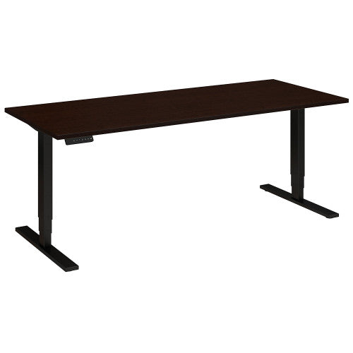 Bush Move 80 Series 72W x 30D Height Adjustable Standing Desk, Mocha Cherry Satin HAT7230MRSBK ; UPC: 042976014704 ; Image 1
