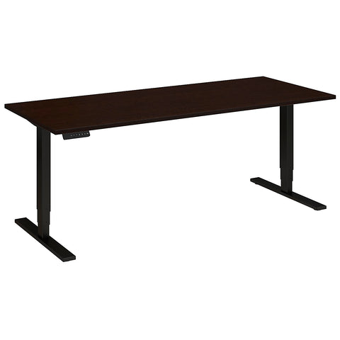 Bush Move 80 Series 72W x 30D Height Adjustable Standing Desk, Mocha Cherry Satin HAT7230MRSBK ; UPC: 042976014704 ; Image 5