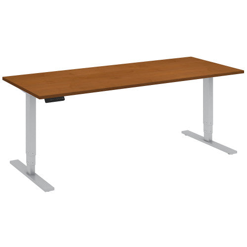 Bush Move 80 Series 72W x 30D Height Adjustable Standing Desk, Natural Cherry HAT7230NCK ; UPC: 042976014612 ; Image 1