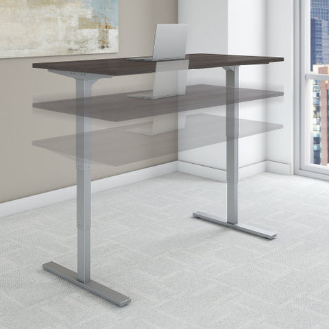 Bush Move 80 Series 72W x 30D Height Adjustable Standing Desk, Storm Gray HAT7230SGK ; UPC: 042976074043 ; Image 2