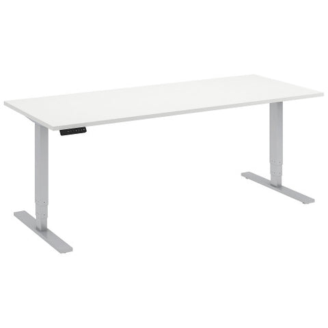 Bush Move 80 Series 72W x 30D Height Adjustable Standing Desk, White HAT7230WHK ; UPC: 042976014667 ; Image 1