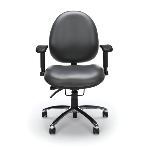 OFM Model 247-VAM 24 Hour Big and Tall Ergonomic Computer Swivel Task Chair with Arms, Anti-Microbial/Anti-Bacterial Vinyl, Charcoal ; UPC: 811588013036 ; Image 2