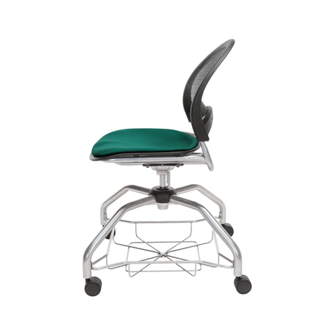 OFM Moon Foresee Series Chair with Removable Fabric Seat Cushion - Student Chair, Forest Green (339) ; UPC: 845123094495 ; Image 5