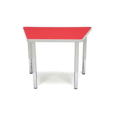 OFM Adapt Series Trapezoid Student Table - 18-26? Height Adjustable Desk, Red (TRAP-SL) ; UPC: 845123096369 ; Image 3