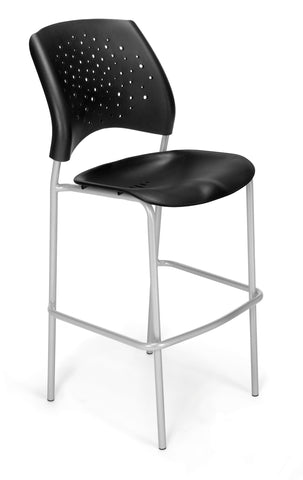 OFM 328S-P-BLK Stars Cafe Height Plastic Chair ; UPC: 845123012918 ; Image 1