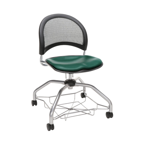 OFM Moon Foresee Series Chair with Removable Vinyl Seat Cushion - Student Chair, Teal (339-VAM) ; UPC: 845123094525 ; Image 1