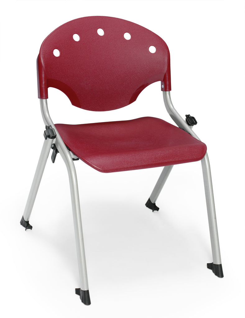 "OFM 305-14-P17 Student Stack Chair, 14"" Height, Burgundy (Pack of 4) ; UPC: 845123021958 ; Image 1"