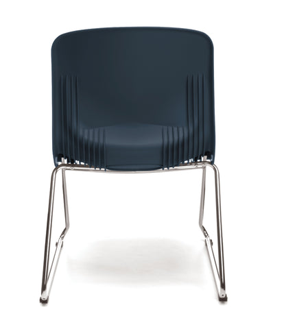 OFM Model 315 Multi-Use Stack Chair, Plastic Seat and Back, Navy ; UPC: 845123034767 ; Image 3