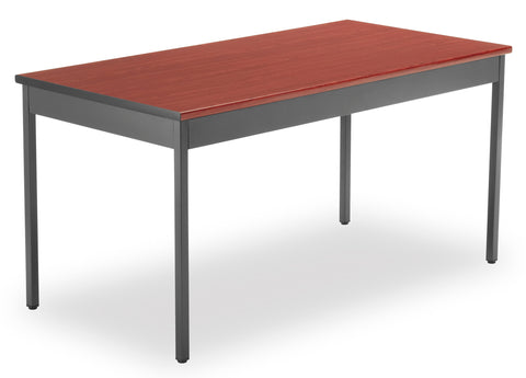 "OFM Model UT3060 30"" x 60"" Multi-Purpose Utility Table, Cherry ; UPC: 811588013142 ; Image 1"