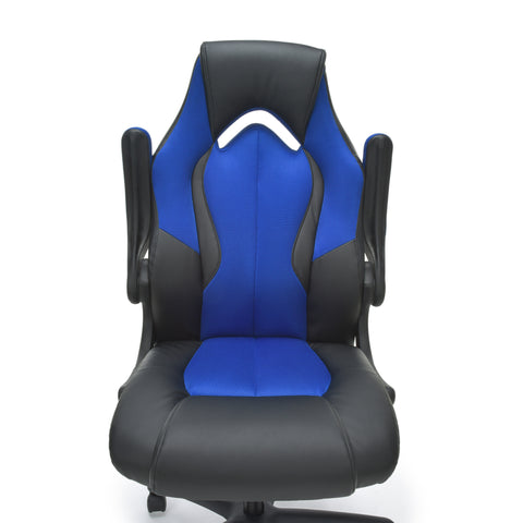 OFM Essentials Collection High-Back Racing Style Bonded Leather Gaming Chair, in Blue (ESS-3086-BLU) ; UPC: 845123090633 ; Image 8