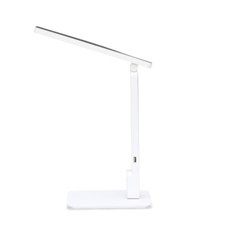 OFM 4025-WHT Industrial LED Desk Lamp with Touch Activated Switch and USB Charging Port, White ; UPC: 192767000840 ; Image 5