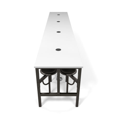 OFM Endure Series Model 9016 Standing Height 16 Seat Table, White Dry-Erase Top with Dark Vein Seats ; UPC: 845123080160 ; Image 1