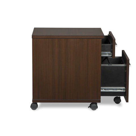 OFM Fulcrum Series Locking Pedestal, Mobile 2-Drawer Filing Cabinet, Espresso (CL-MBF-ESP) ; UPC: 845123097526 ; Image 7