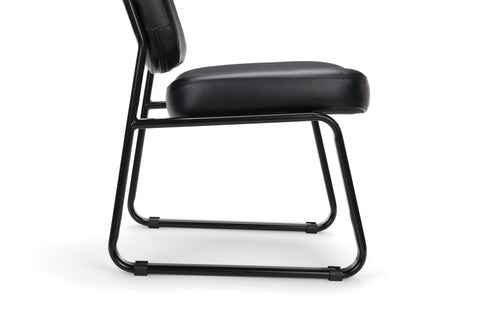 OFM Model 405-VAM Armless Guest and Reception Chair, Anti-Microbial/Anti-Bacterial Vinyl, Black ; UPC: 811588014361 ; Image 10