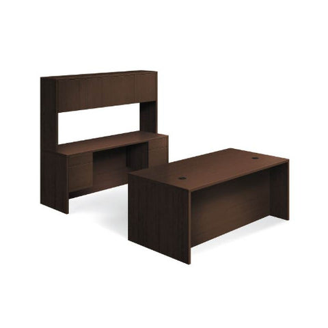 "HON 10500 Series Double Pedestal Desk / Credenza | Stack-On Storage | 3/4 Pedestals | 4 Box / 4 File Drawers | 72""W x 98""D 