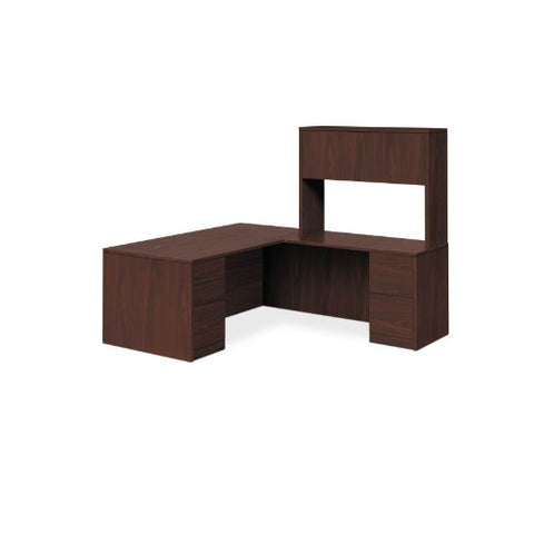 "HON 10500 Series L-Workstation | Stack-On Storage | Full Pedestals | 2 Box / 3 File Drawers | 72""W x 84""D 