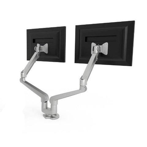 HON H5220 Accessories Dual Monitor Arm In Silver ; UPC: 035349928159