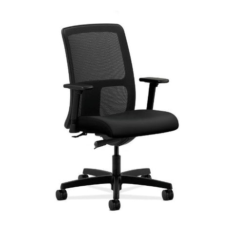 HON Ignition Low-Back Mesh Task Chair in Black ; UPC: 752856907469
