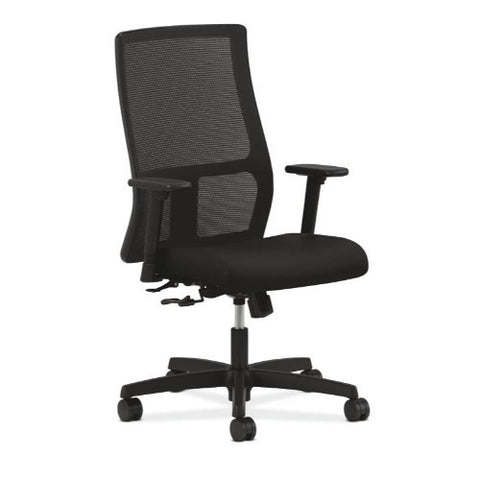 HON Ignition Mid-Back Mesh Task Chair in Black ; UPC: 089191655855