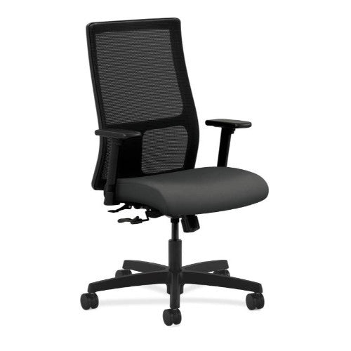 HON Ignition Mid-Back Mesh Task Chair in Iron Ore ; UPC: 752856802870