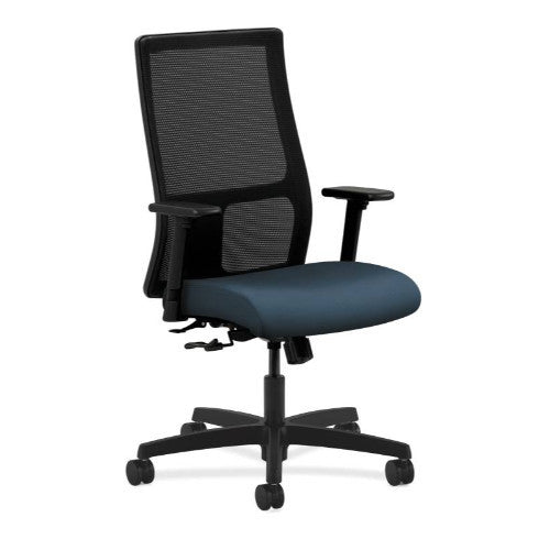 HON Ignition Mid-Back Mesh Task Chair in Cerulean ; UPC: 745123954099