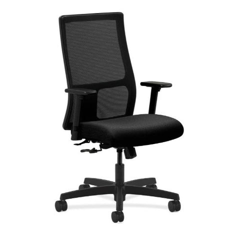 HON Ignition Mid-Back Mesh Task Chair in Black ; UPC: 089192614523