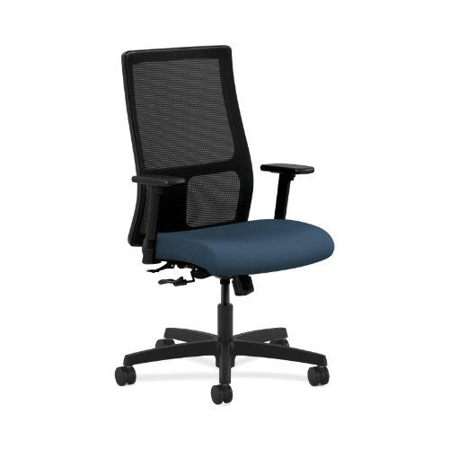 HON Ignition Mid-Back Mesh Task Chair in Jet ; UPC: 752856039719