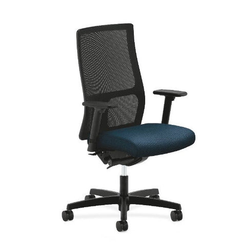 HON Ignition Mid-Back Mesh Task Chair in Blue ; UPC: 089192147434