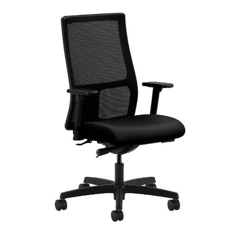 HON Ignition Mid-Back Mesh Task Chair in Black ; UPC: 089192135363