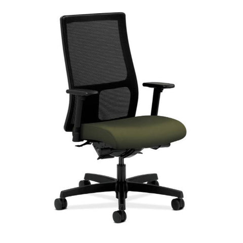 HON Ignition Mid-Back Mesh Task Chair in Olivine ; UPC: 089192364640