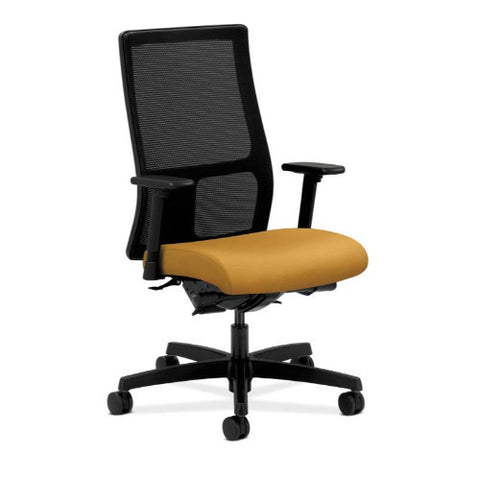 HON Ignition Mid-Back Mesh Task Chair in Mustard ; UPC: 035349799223