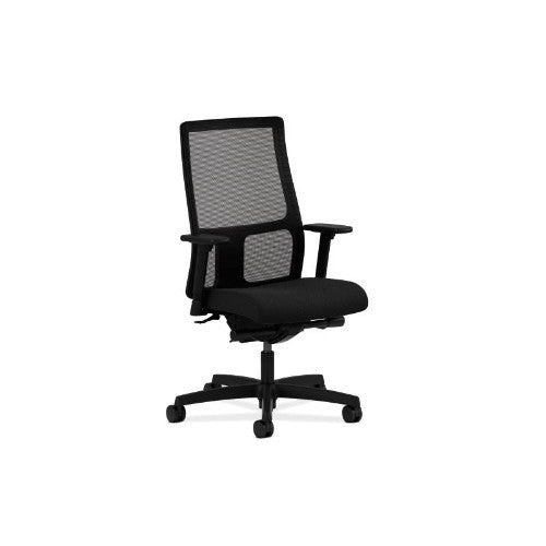HON Ignition Mid-Back Mesh Task Chair in Black ; UPC: 089191112501