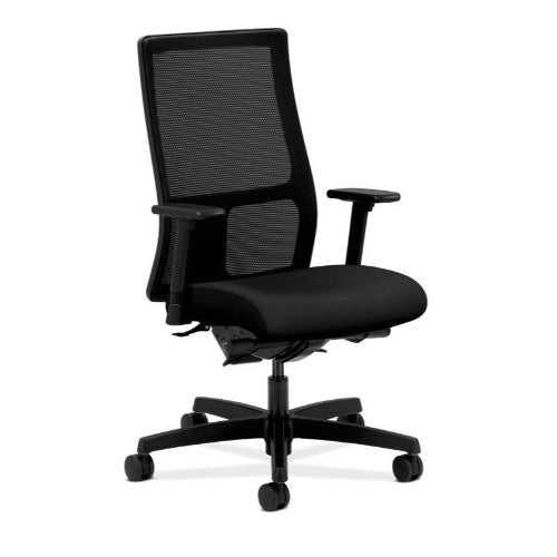 HON Ignition Mid-Back Mesh Task Chair in Black ; UPC: 089191186854