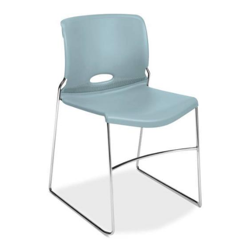 HON Olson High-Density Stacking Chair HON4041BU, Light Blue (UPC:791579421340)