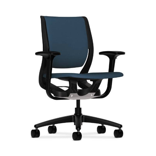 HON Purpose Mid-Back Chair in Jet ; UPC: 888852744149