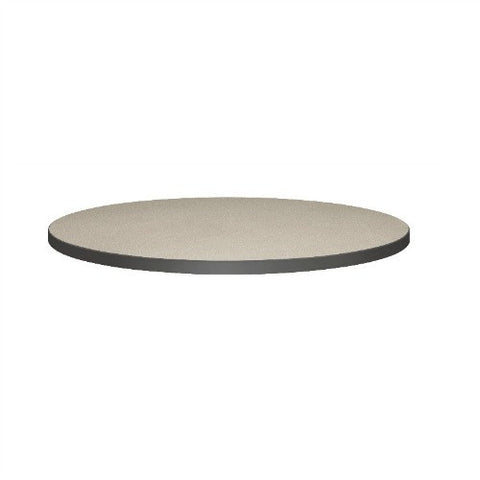 "HON Hospitality 42"" Round Table Top in Patterned Gray Finish"