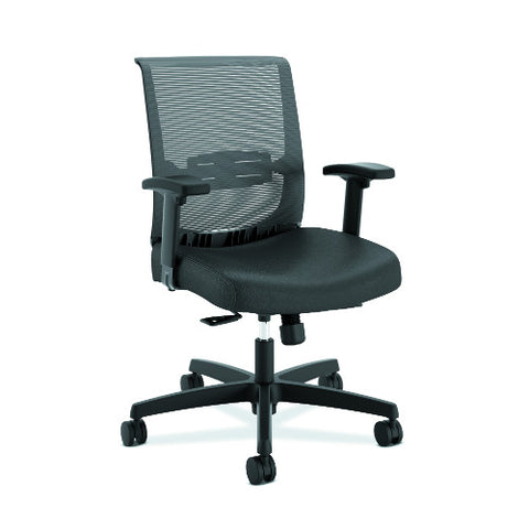 HON Convergence Synchro-Tilt Task Chair with Seat Slide Control in Black Vinyl
