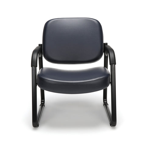 OFM Model 407-VAM Big and Tall Guest and Reception Chair with Arms, Anti-Microbial/Anti-Bacterial Vinyl, Navy ; UPC: 845123028612 ; Image 2