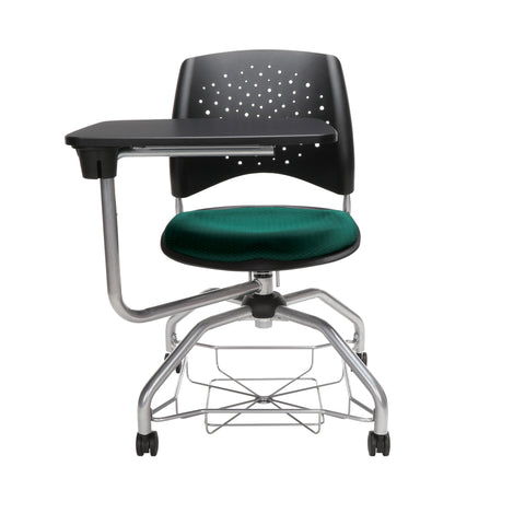 OFM Stars Foresee Series Tablet Chair with Removable Fabric Seat Cushion - Student Desk Chair, Forest Green (329T) ; UPC: 845123094273 ; Image 2