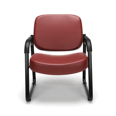 OFM Core Collection Big and Tall Guest and Reception Chair with Arms, Anti-Microbial/Anti-Bacterial Vinyl, in Wine (407-VAM-603) ; UPC: 845123028599 ; Image 2