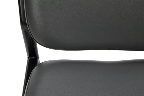 OFM Model 405-VAM Armless Guest and Reception Chair, Anti-Microbial/Anti-Bacterial Vinyl, Charcoal ; UPC: 811588014347 ; Image 9