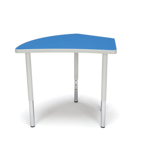 OFM Adapt Series Crescent Standard Table - 23-31? Height Adjustable Desk, Blue (CREST-LL) ; UPC: 845123096505 ; Image 2