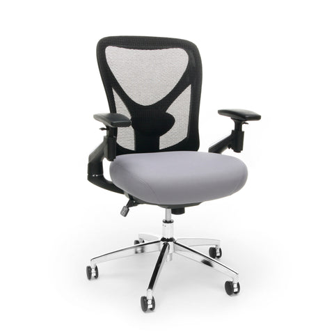 "OFM 257-GRY 24-Hour Big & Tall Mesh Chair, Gray/Black Office Chair, 36"" Height, 28"" Wide, 27"" Length, black/Gray ; UPC: 845123088869 ; Image 1"