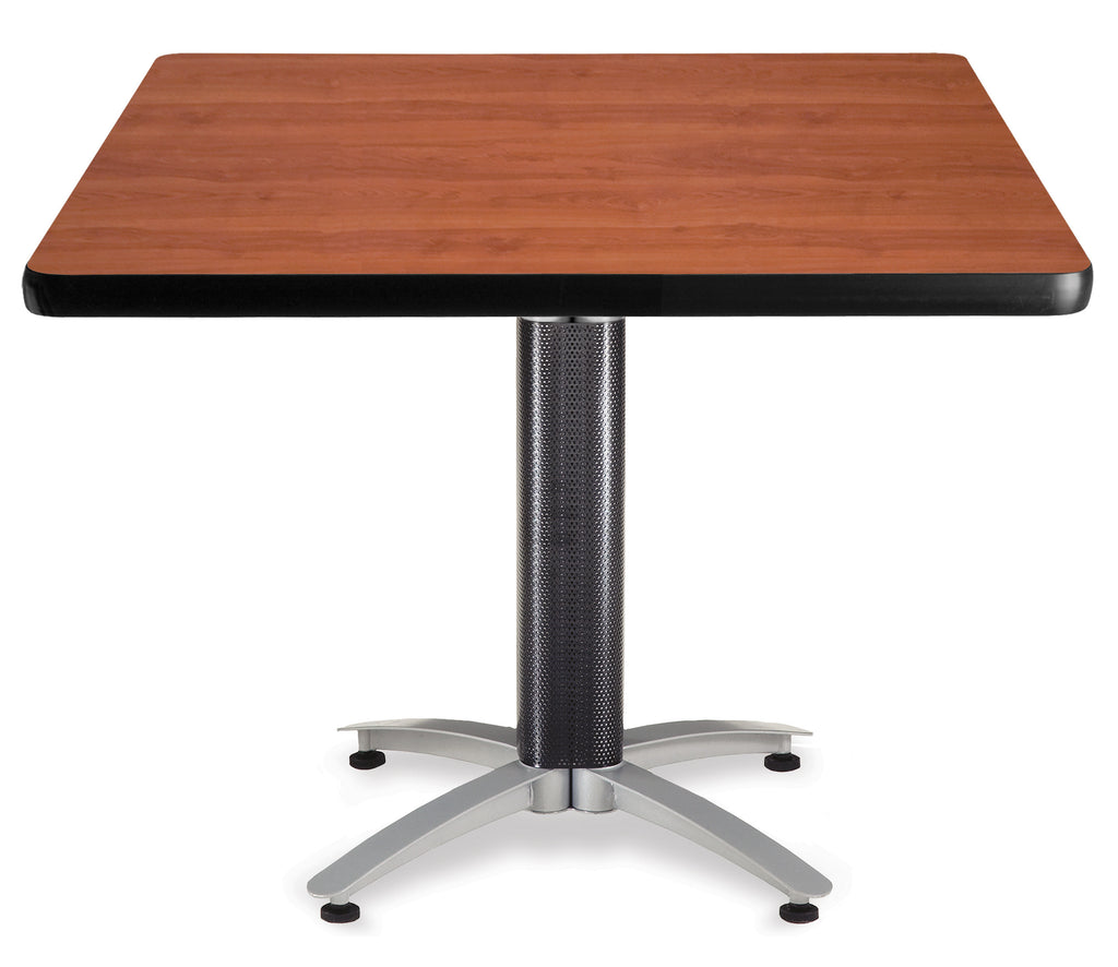 "OFM Core Collection 42"" Square Multi-Purpose Mesh Base Table, Cherry (KMT42SQ) ; UPC: 811588010486 ; Image 1"