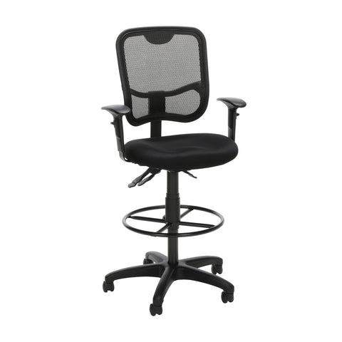 OFM Comfort Series Ergonomic Mesh Drafting Task Chair, Mid Back, in Black (130-AA3-DK-A05) ; UPC: 845123011744 ; Image 1