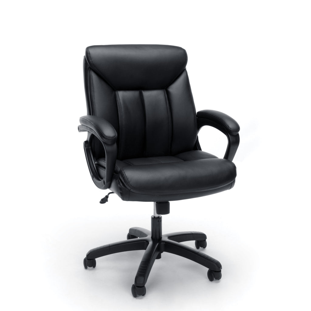 Essentials by OFM ESS-6020 Executive Office Chair, Black with Black Frame ; UPC: 845123092828 ; Image 1