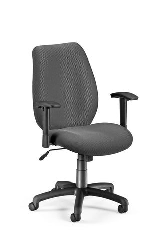 OFM Model 611 Ergonomic Upholstered Manager's Chair with Arms, Graphite ; UPC: 811588014811 ; Image 1